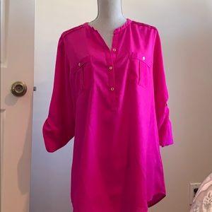 calvin klein tunic blouse